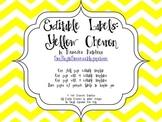Editable Chevron Labels: Yellow