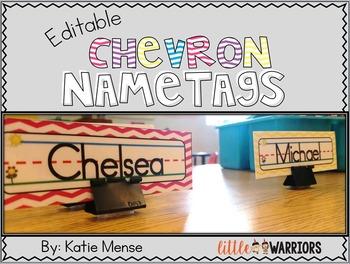 Editable Chevron Mini Nametags