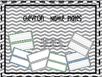 Editable Chevron Name Plates