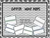 Editable Chevron Name Plates