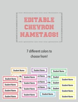 Editable Chevron Name Tags