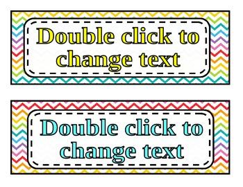 Editable Chevron Nametags **FREEBIE