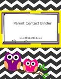 Editable Chevron Owl Teacher Page