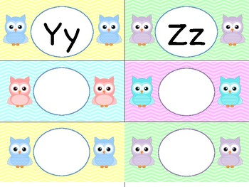 Editable Chevron Owl Word Wall - Reading Wonders Kindergarten Aligned