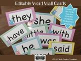 Editable Chevron Owl Word Wall - Reading Wonders Kindergar