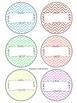 Chevron Pastel Supply Labels- Round