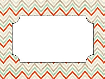 Editable Chevron Poster Set