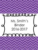 Editable Chevron Print Teacher Binder