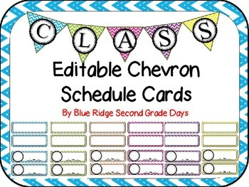 Editable Chevron Schedule Cards