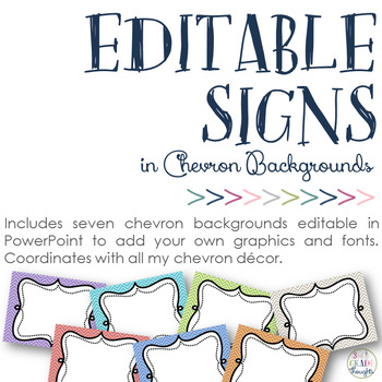 Editable Chevron Signs: PowerPoint File