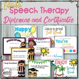 #jun2018slpmusthave Editable Speech Therapy Awards and Diplomas