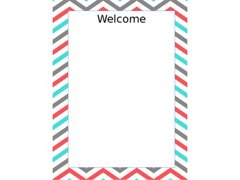 Editable Chevron Sub Binder