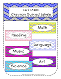 Editable Chevron Subject Labels