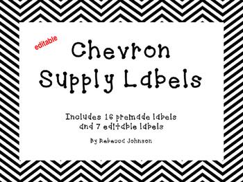 Editable Chevron Supply Labels