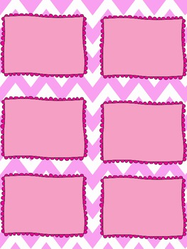Editable Chevron Task Card Template By Knitting Needles And Notebooks - Task card template