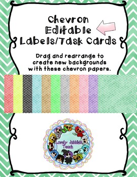 Editable Chevron Taskcard/Labels
