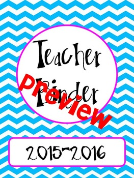 Editable Chevron Teacher Binder
