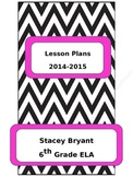 Editable Chevron Teacher Binder Cover