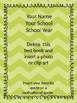 Free Editable Chevron Teacher Binder Covers