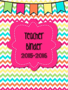 Editable Chevron Teacher Binder with Editable Newsletter