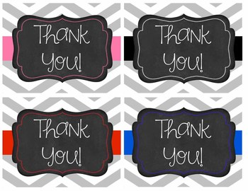 Editable Chevron Teacher Note Cards - plus BONUS Thank you Cards
