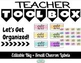 Editable Chevron Teacher Toolbox
