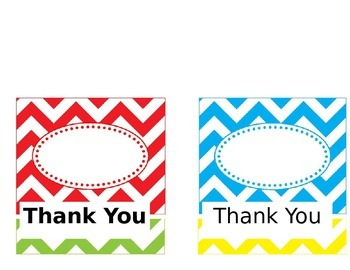 Editable Chevron Thank You Cards--pic distorted--click on preview