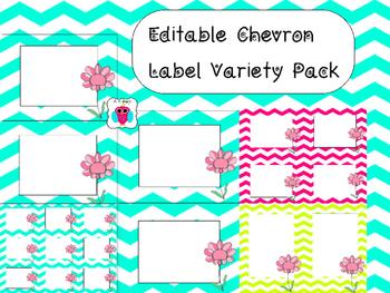 Editable Chevron Variety Label Pack