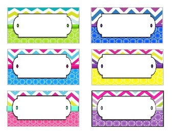 Editable Chevron and Circles Teacher Toolbox Labels