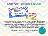 Editable Chevron and Circles Teacher Toolbox Labels