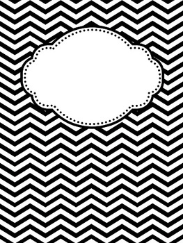 editable chevron and polka dot binder covers by teacher at heart