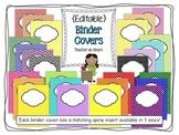 {Editable} Chevron and Polka Dot Binder Covers