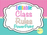 Editable Chevron and Polka Dot Class Rules Posters