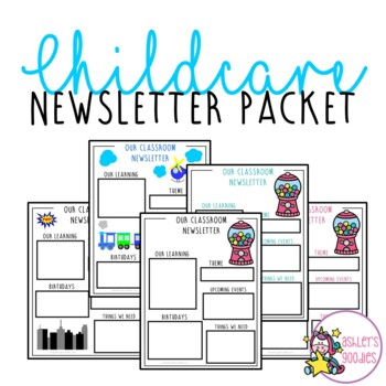 Editable Childcare Newsletters (can be used for preschool and school)