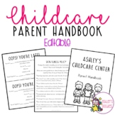 Editable Childcare Parent Handbook