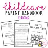 Editable Childcare Parent Handbook (GROWING)