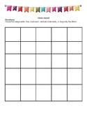 Editable Choice Board Bingo