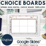 Editable Choice Board Template   Digital   Spring Rain