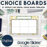 Editable Choice Board Template   Digital   St Patricks Day