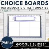 Editable Choice Board Template | Digital | Watercolor