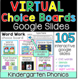 Editable Choice Boards - Distance Learning Google Slides