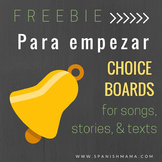 Editable Choice Boards for Comprehensible Input Bell-ringers