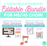 Editable Choir Calendar and Handbook BUNDLE