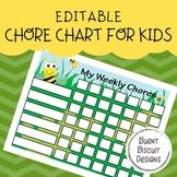 Editable Chore Chart - Buzzing Bees
