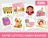 Editable Chore Chart Printable  Routine Cards Kids Reward