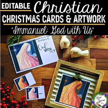 Editable Christian Christmas Cards and Artwork