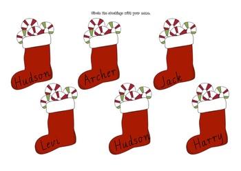 Editable Christmas Activity Kit in Modern Victorian Cursive font