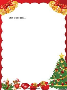 Christmas Boarder.Editable Christmas Border Letter