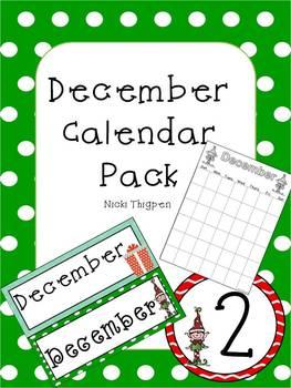 Editable Christmas Calendar Cards