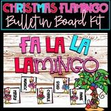 Christmas Flamingo Bulletin Board Kit - Editable